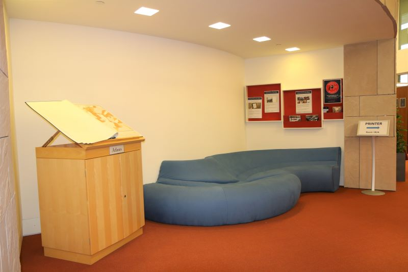 1st floor - blue couch